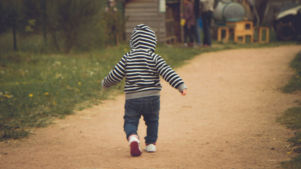 Kid walking