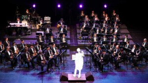 Orchestra with conductor disappeared
